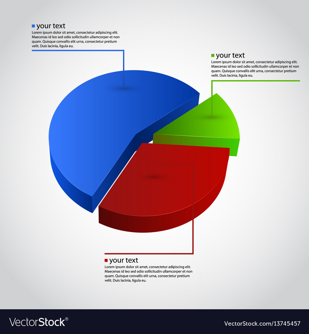 Business info graphic diagram vector image