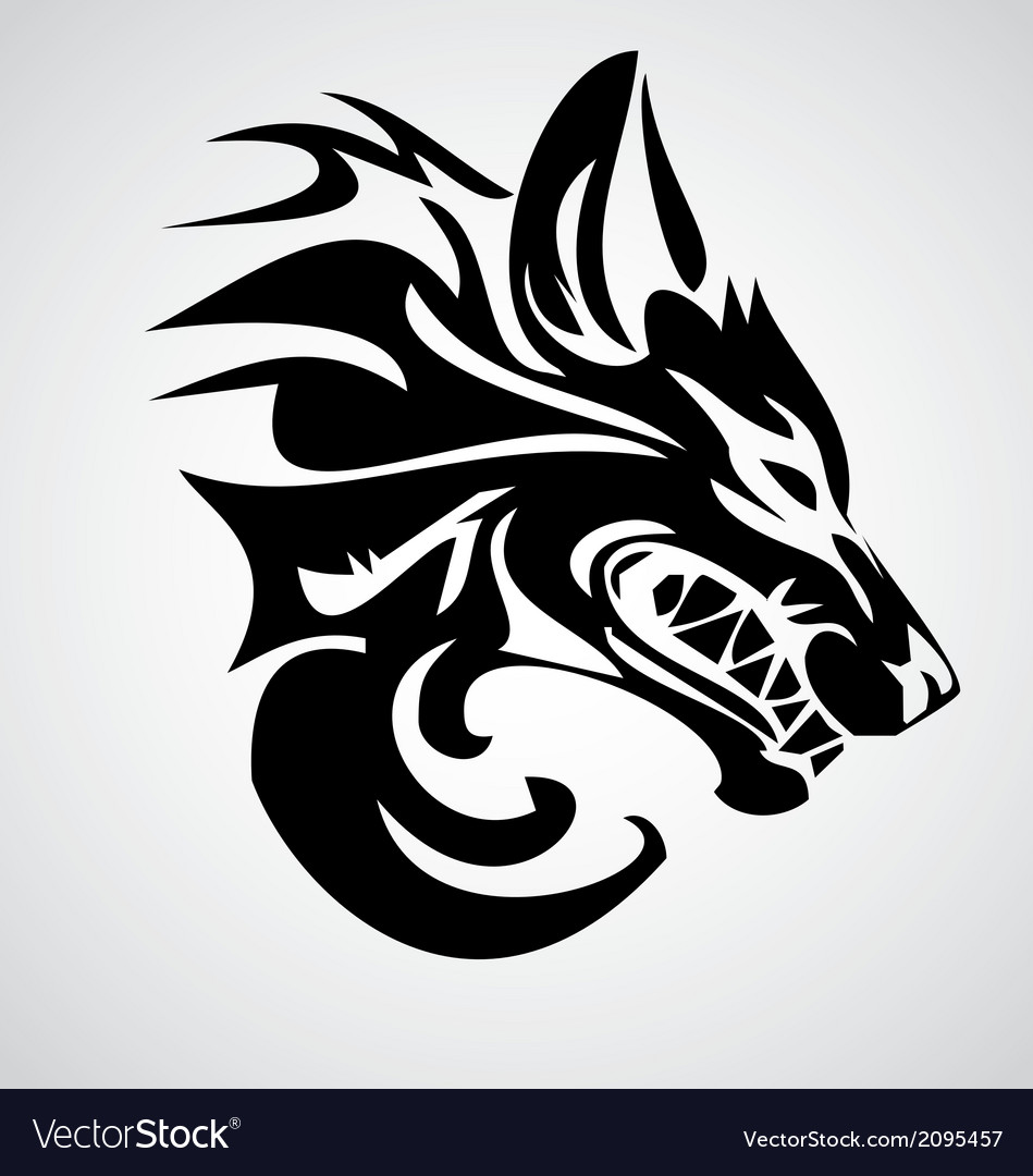 Tribal Wolf Royalty Free Vector Image - VectorStock