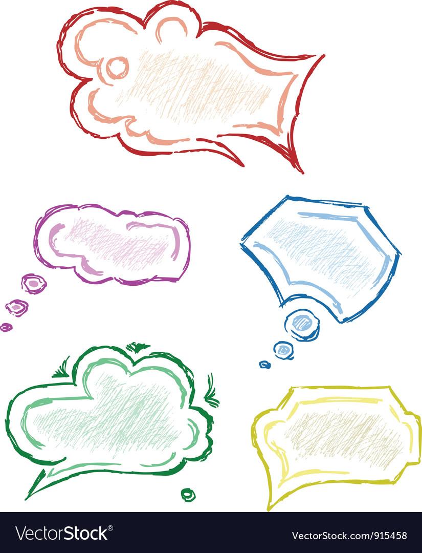 Various grey dialog vector image