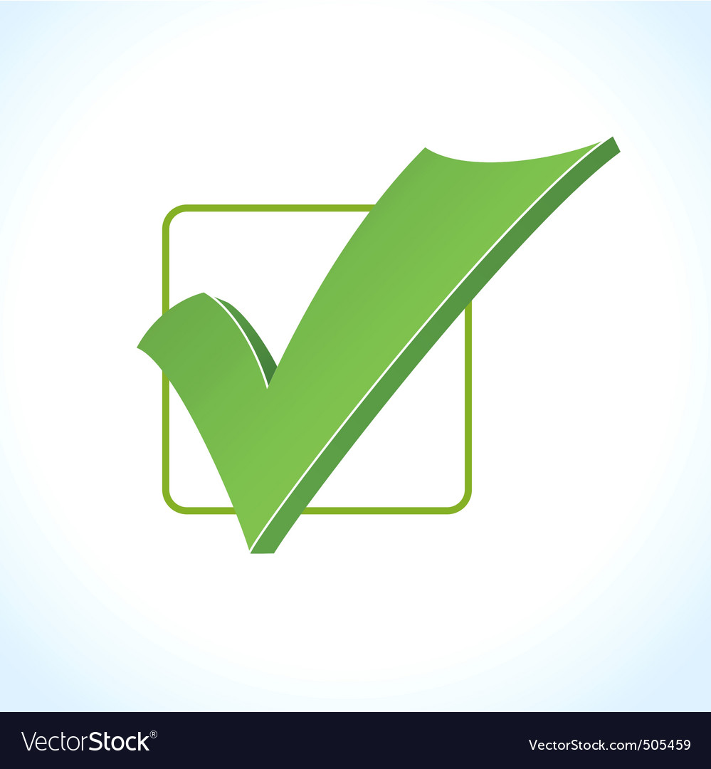 Check mark Vector Image