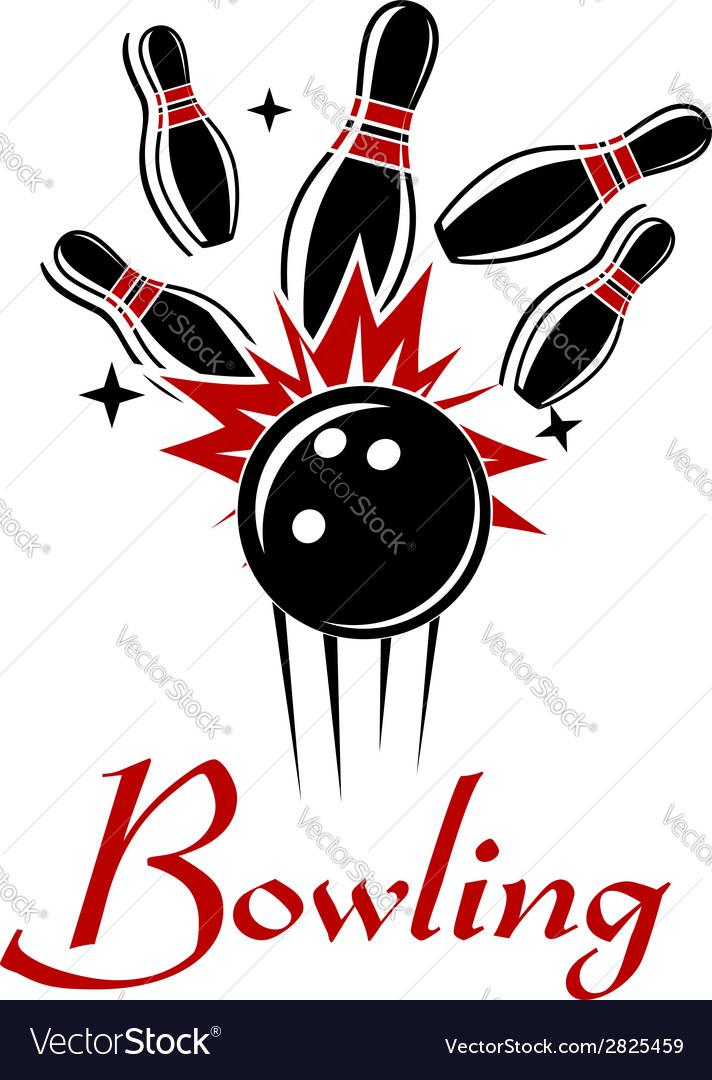 Bowling emblem or logo vector image