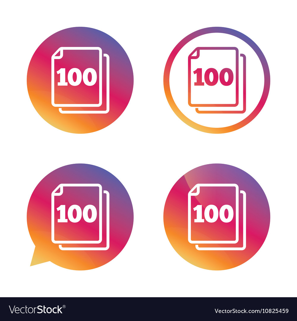 In pack 100 sheets sign icon 100 papers symbol vector image buycottarizona Image collections