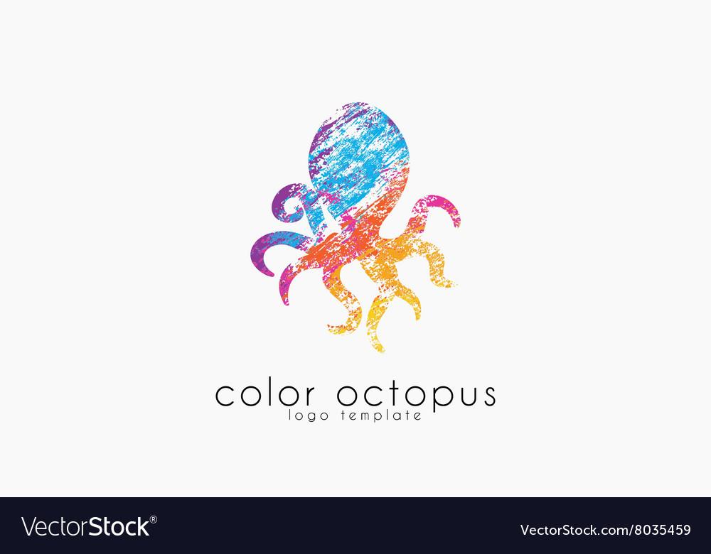 Octopus logo Sea logo Ocean logo design Water vector image