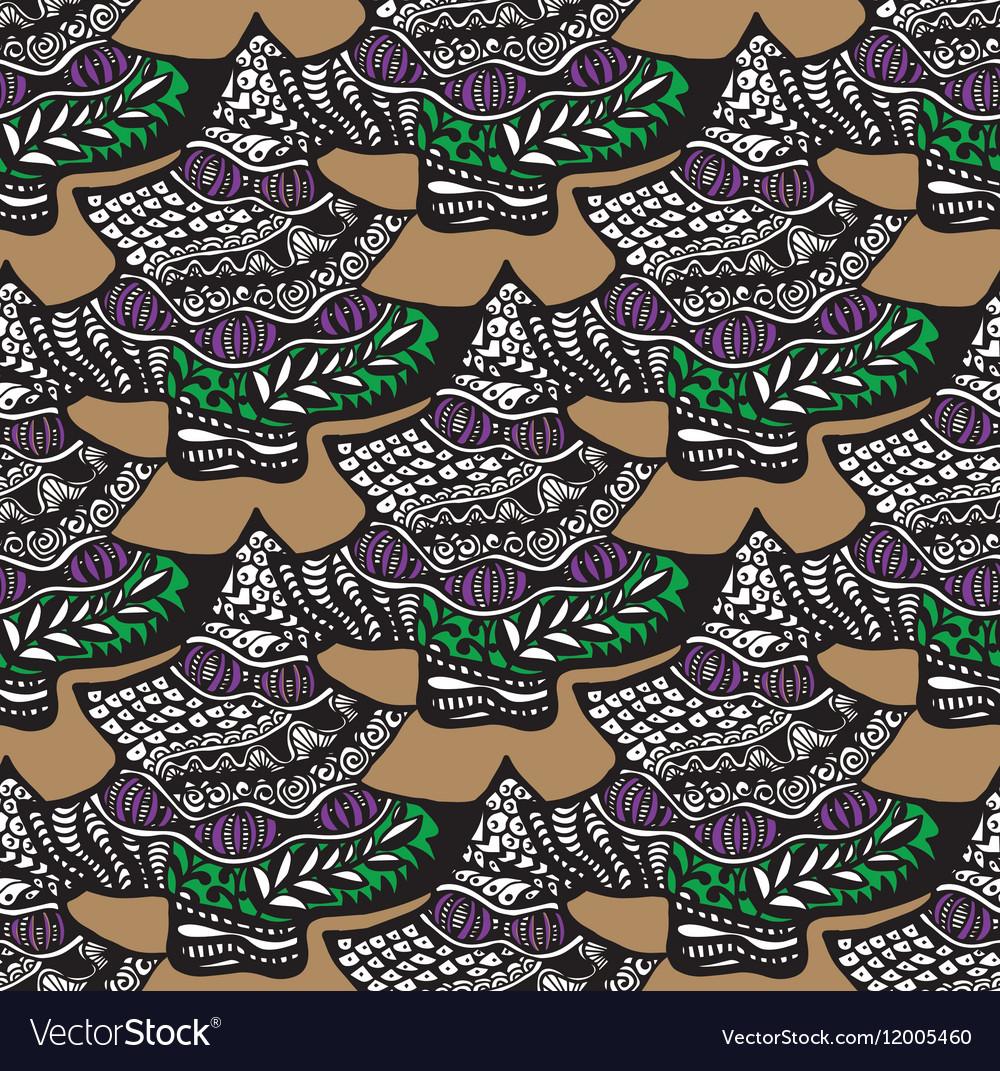 Christmas tree pattern design vector image