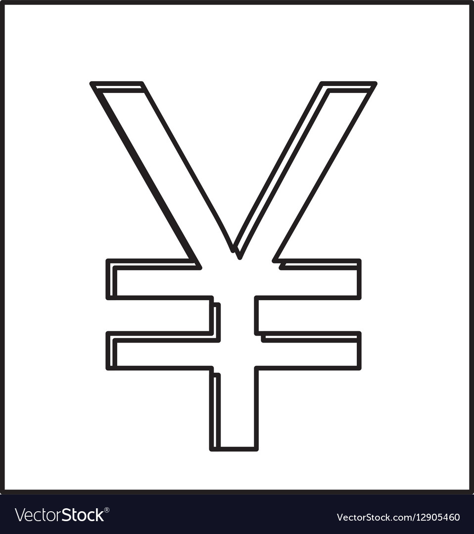 Monochrome contour with currency symbol of china vector image biocorpaavc Choice Image