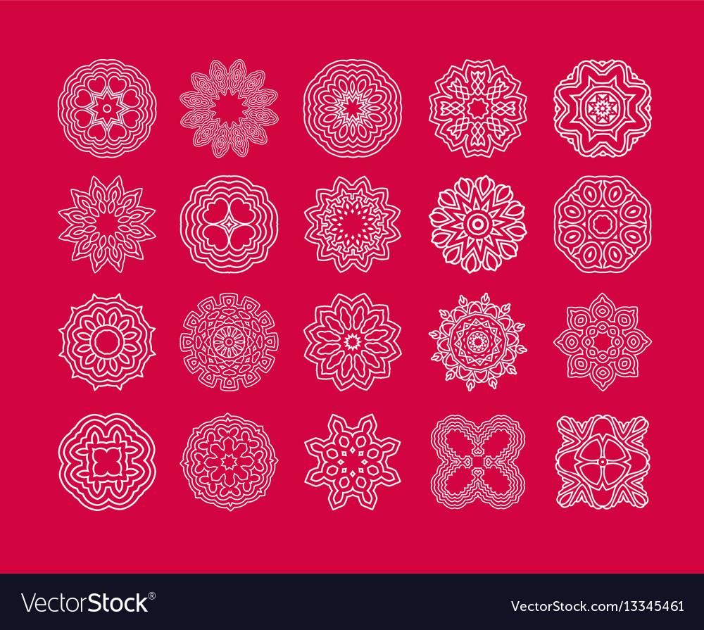 Art snowflake vector image
