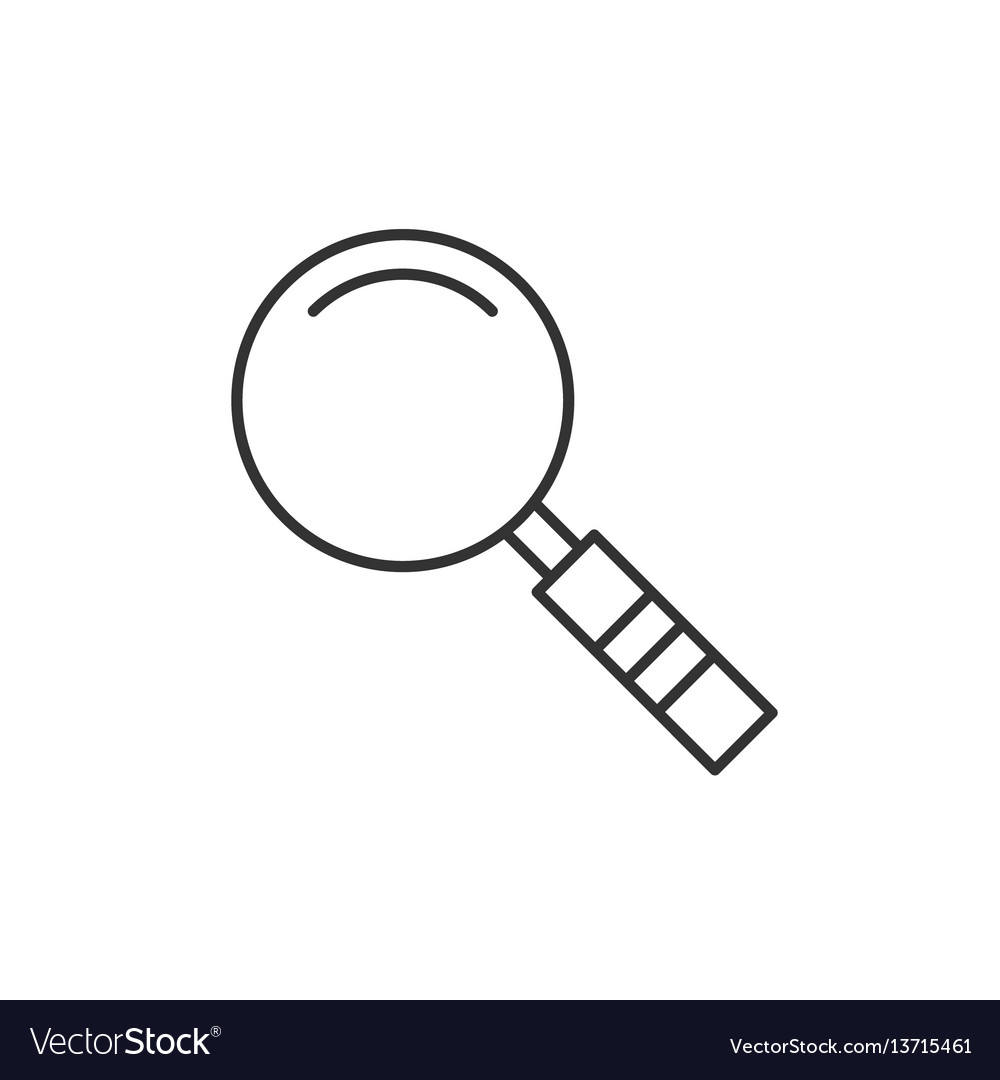 Magnifier linear icon vector image