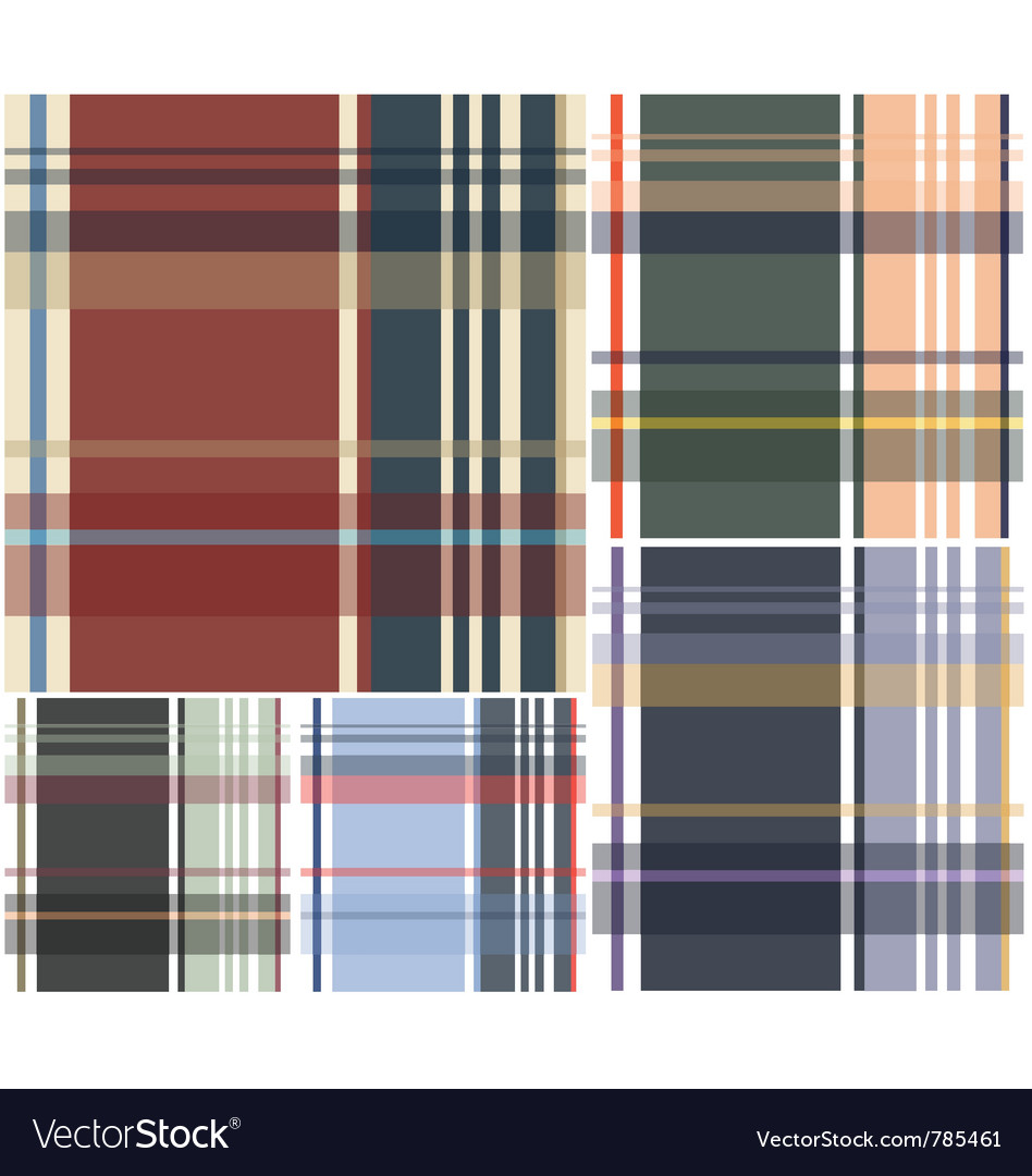 Plaid check pattern vector image