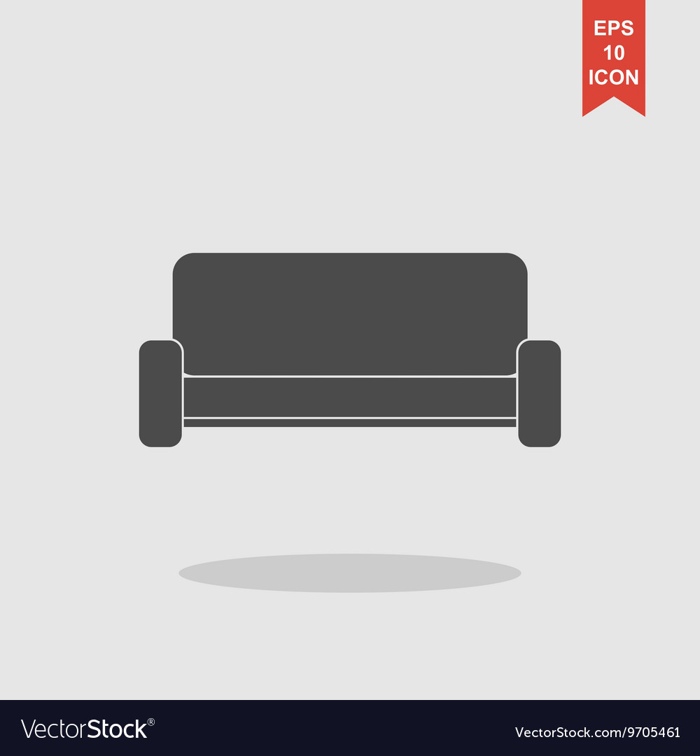 Sofa Icons Modern design flat style icon vector image