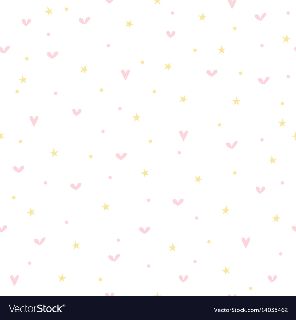 Cute seamless pattern for children with hearts vector image