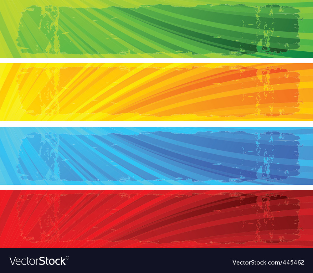 Seven banners vector image