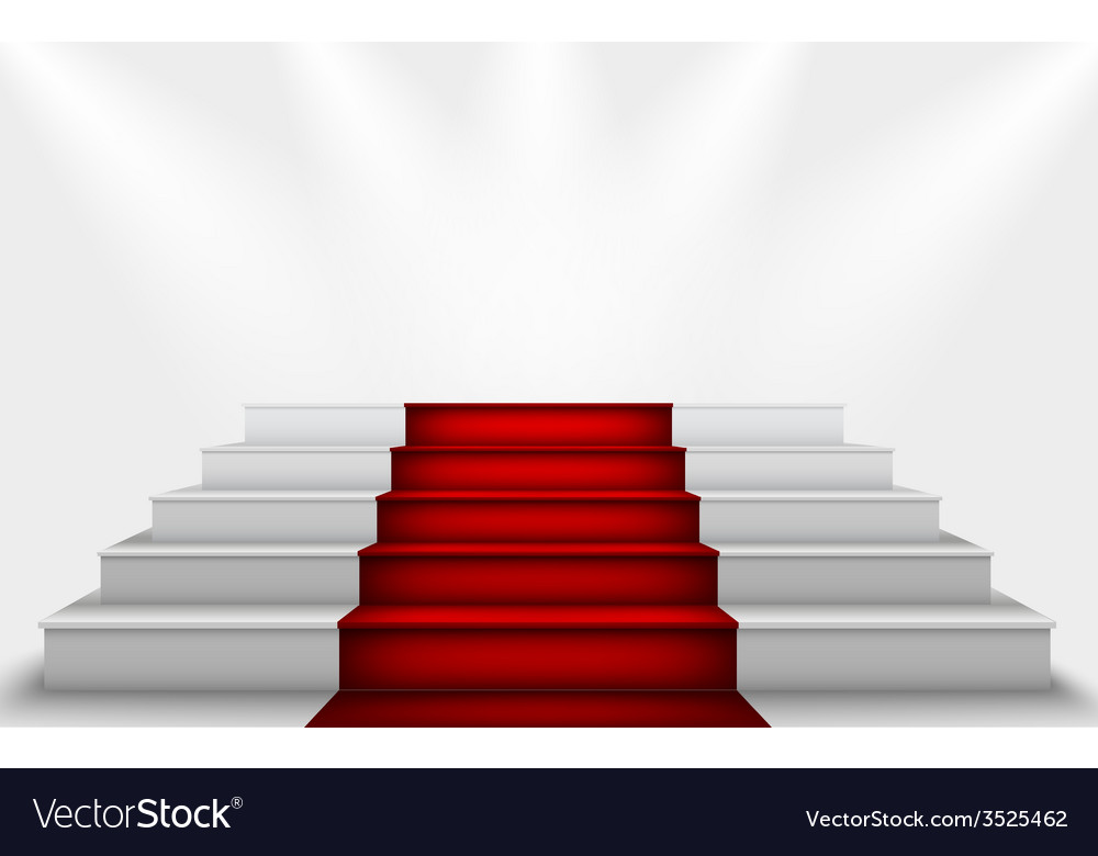 Stairs to the podium vector image