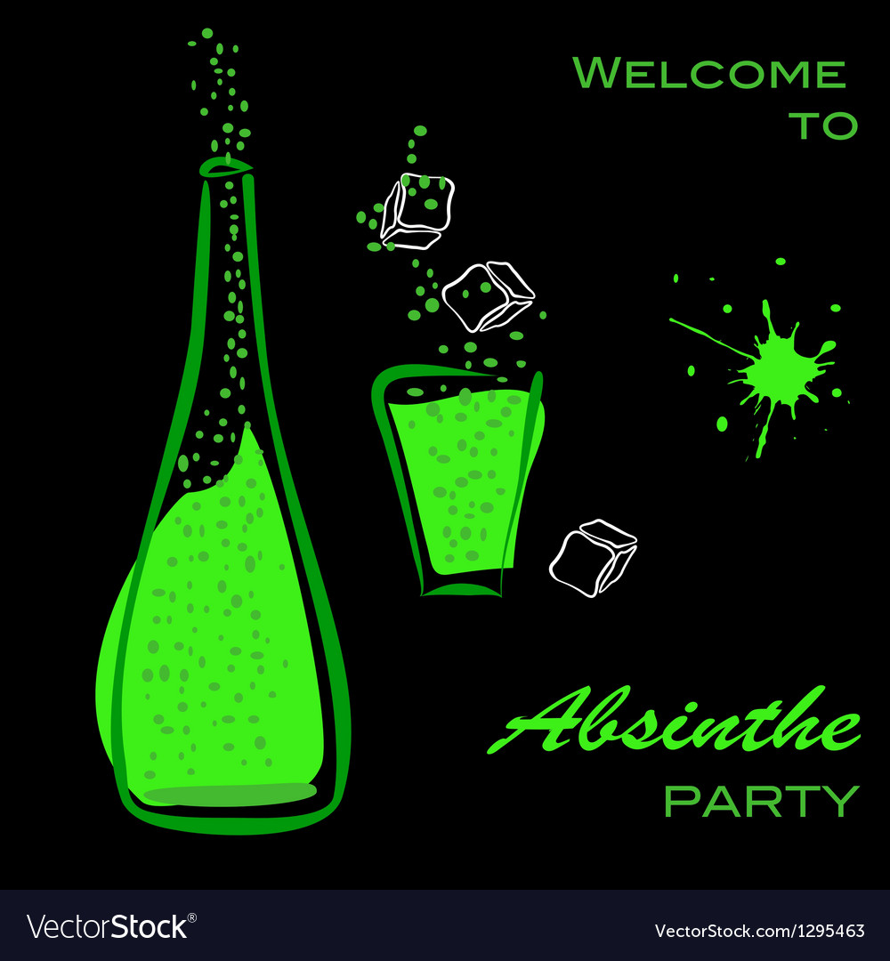 Absinthe party vector image