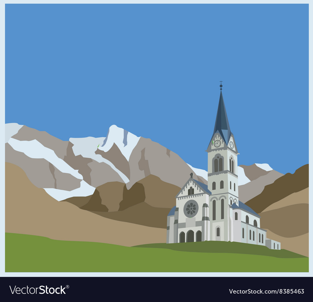 City buildings graphic template Slovenia landscape vector image