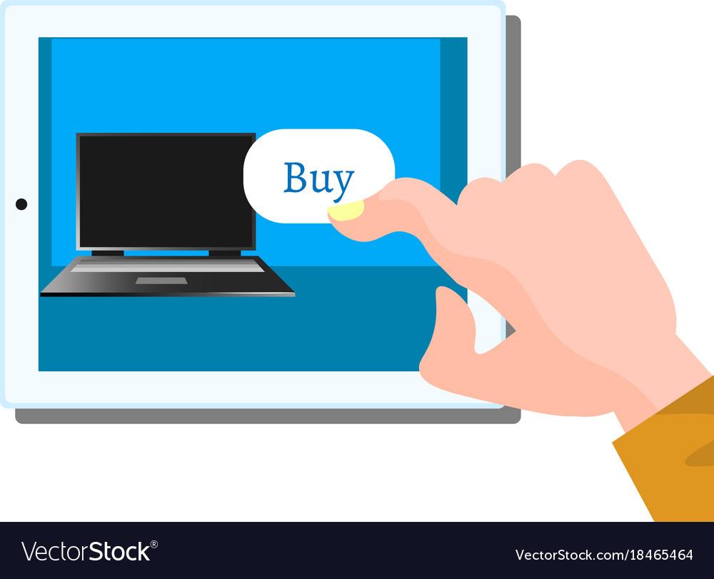 Buy computer flat design vector image