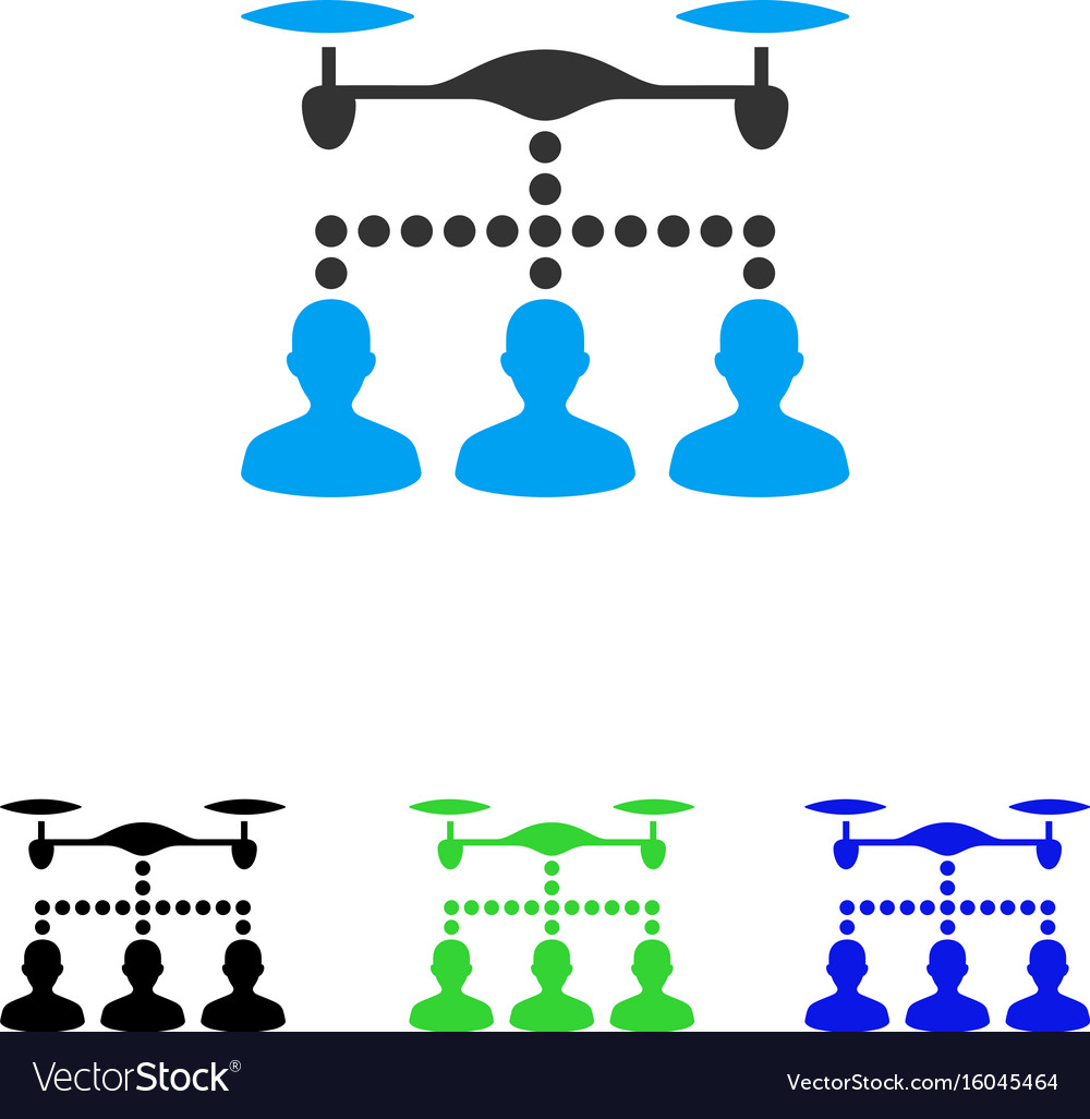 Drone clients connection flat icon vector image