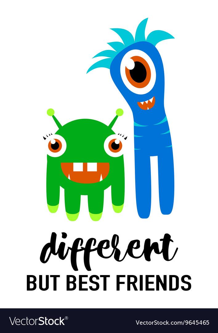Cool modern friendship card vector image