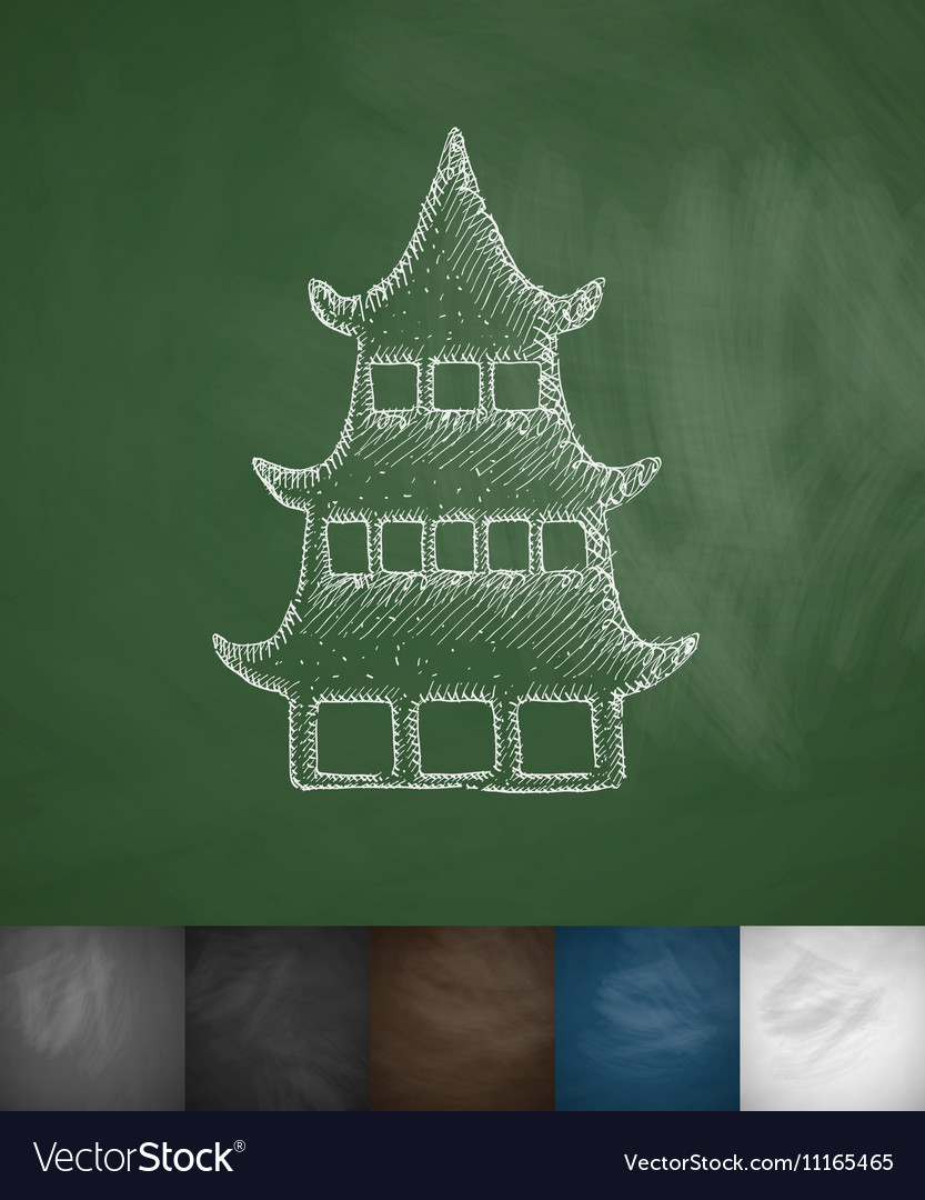 Japanese house icon vector image