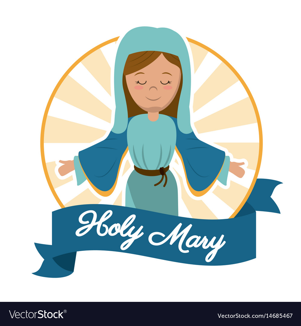 Holy mary mother miracle salvation image vector image