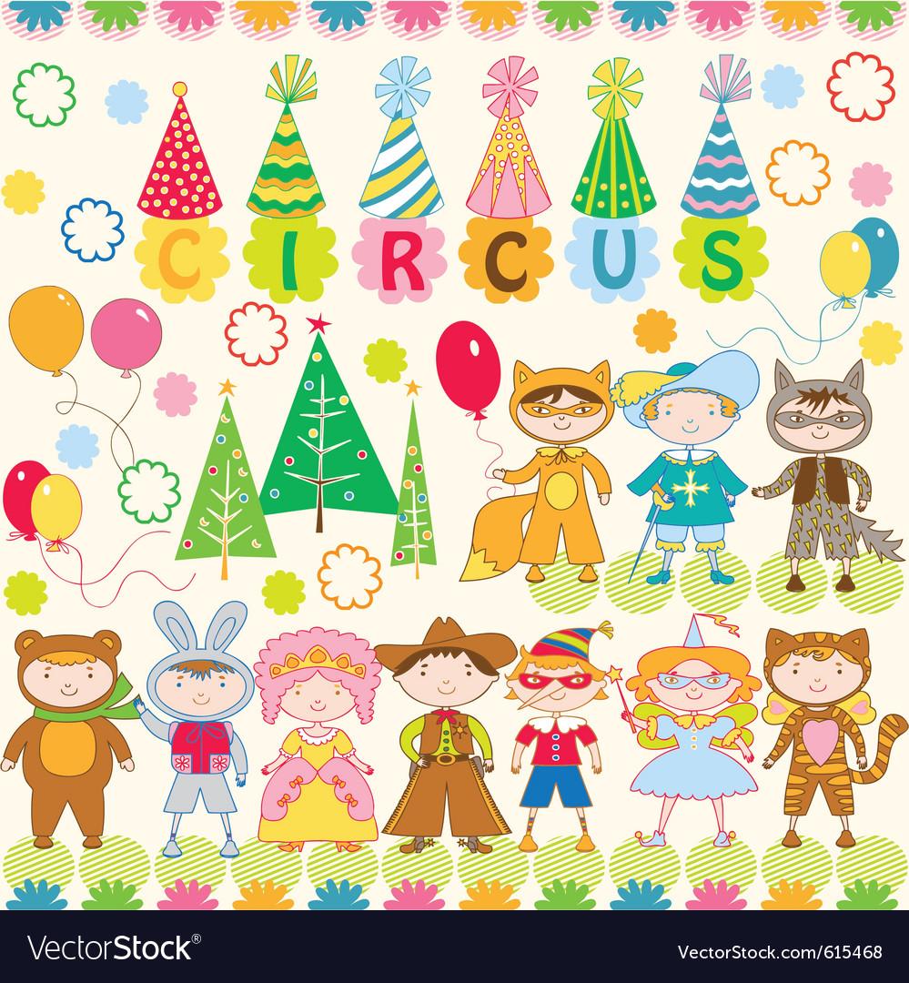 Circus wallpaper print vector image