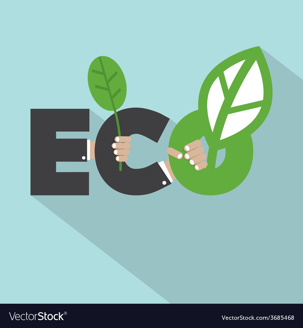 Ecology Concept Typography Design vector image