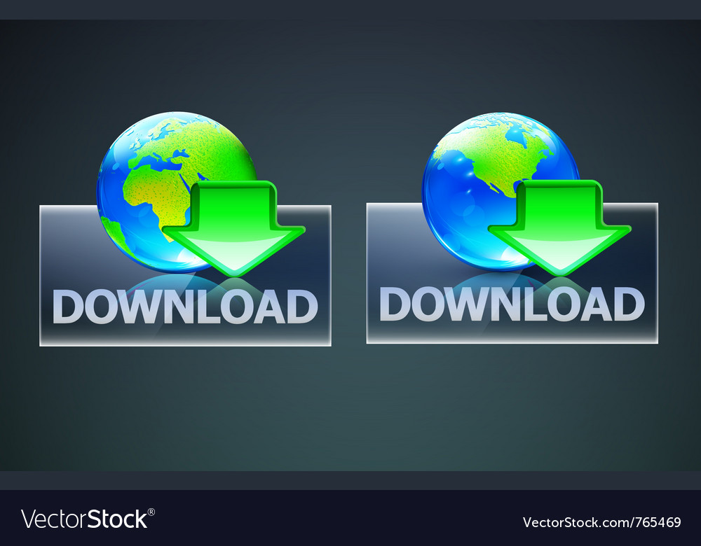Global computer download concept vector image