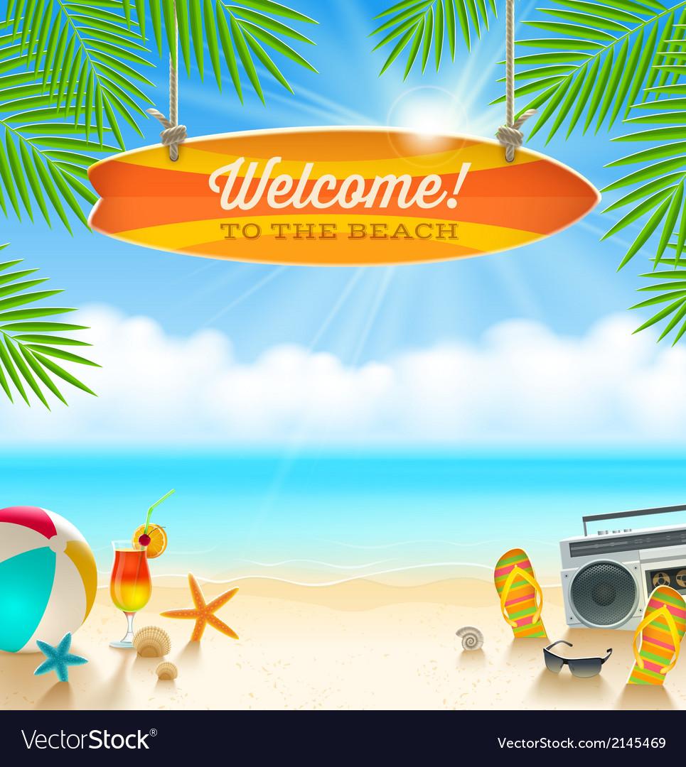 Summer holidays vacation vector image