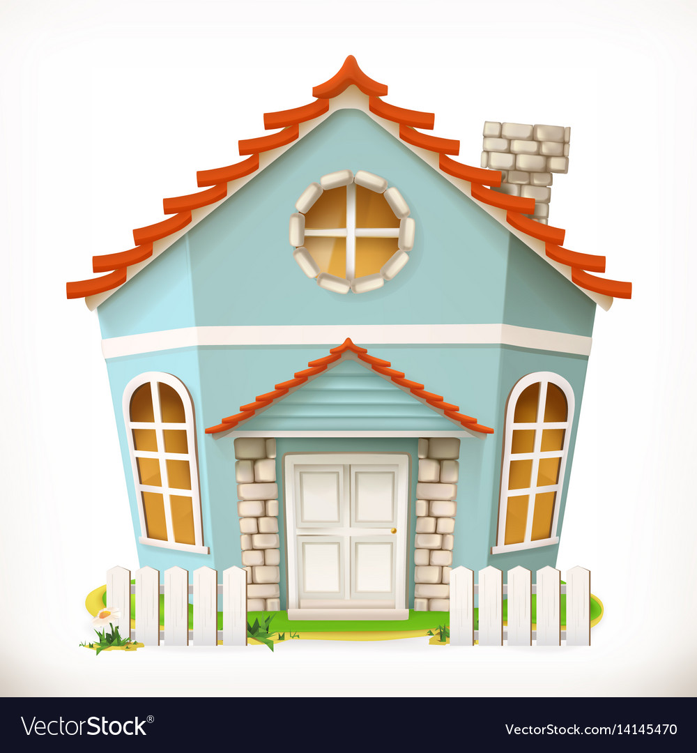 House home 3d icon vector image