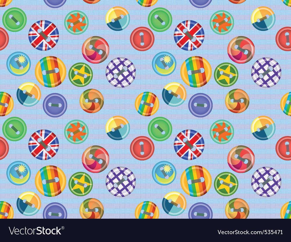 Collection of buttons of fasteners for clothes in vector image