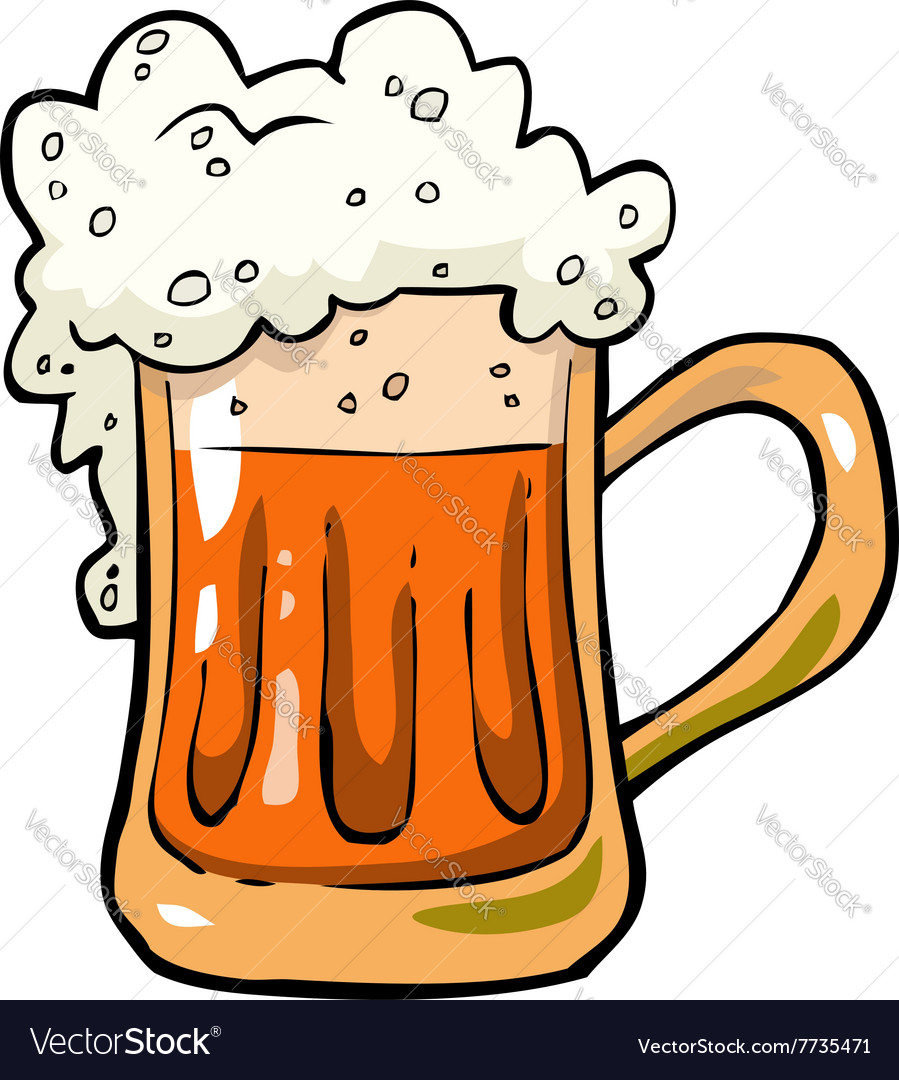 Foamy mug of beer vector image