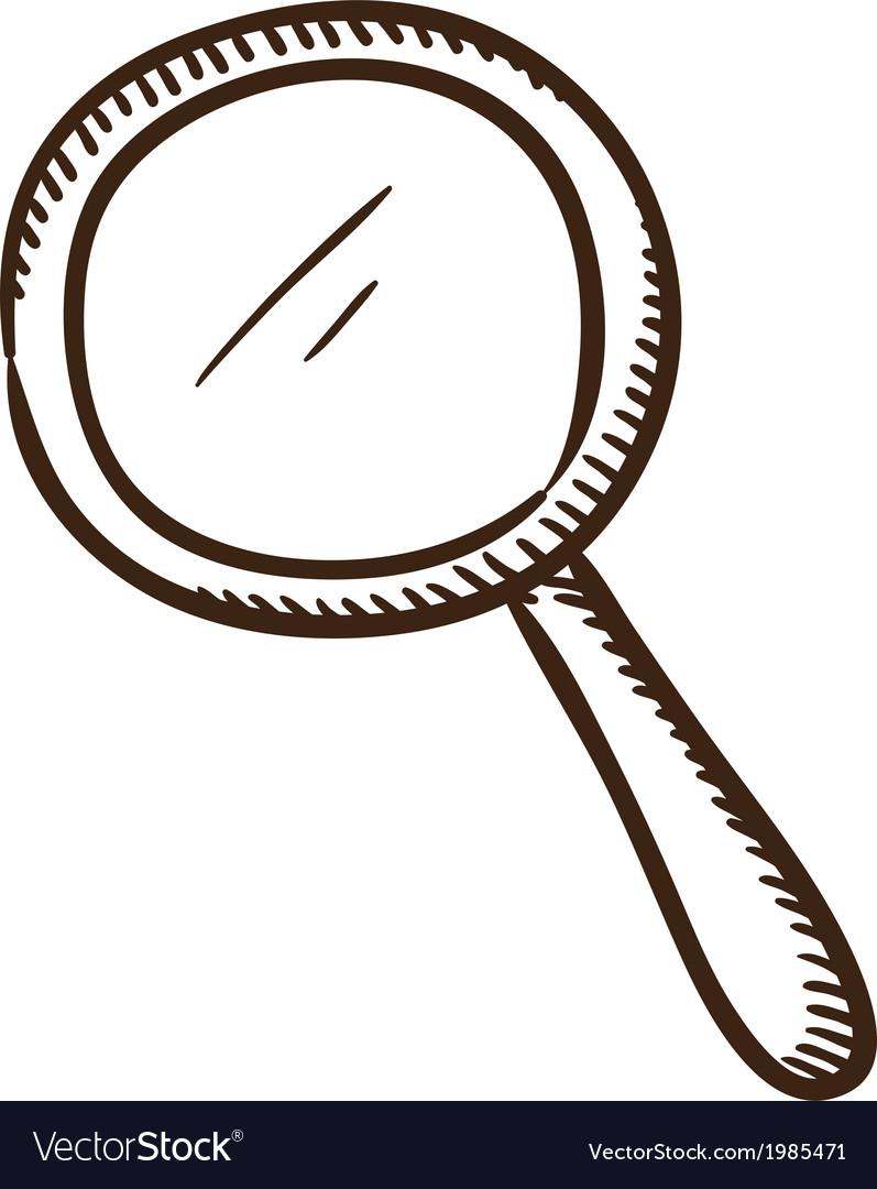 Search symbol vector image