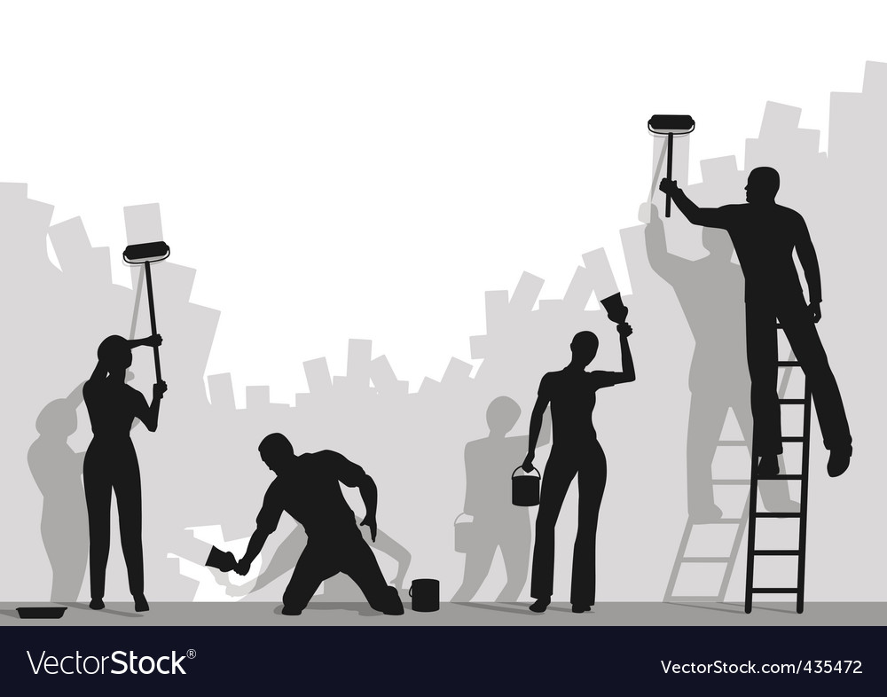 Painters vector image