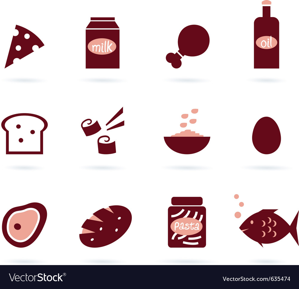 Food design elements vector image