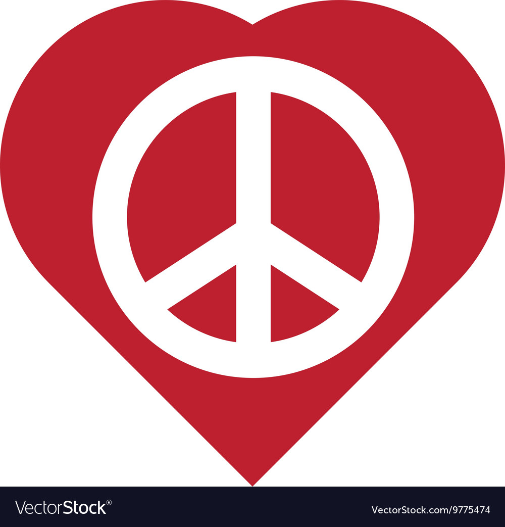Heart shape icon love and peace design royalty free vector heart shape icon love and peace design vector image biocorpaavc