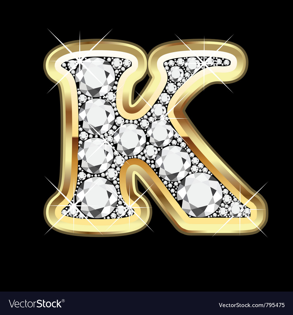 Letter k gold and diam...K Letter In Diamond