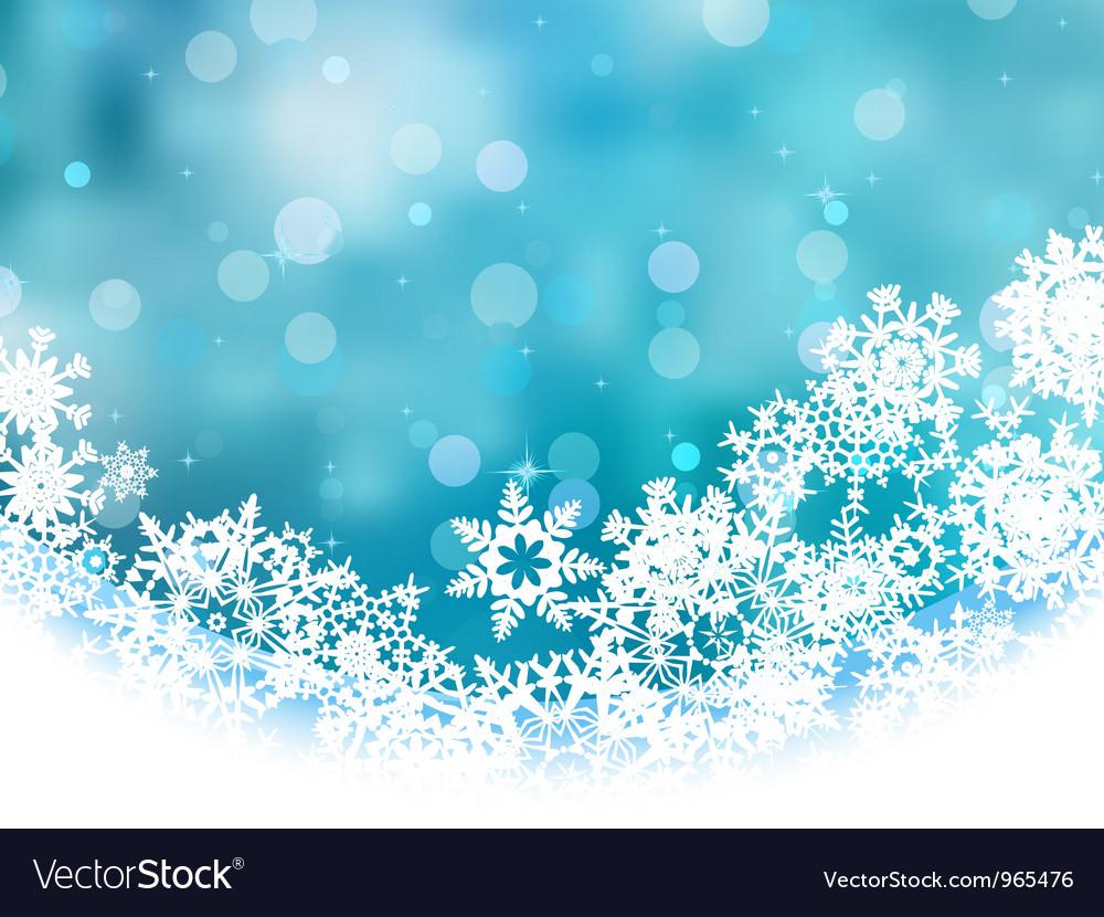 Elegant Christmas Snowflakes Background vector image