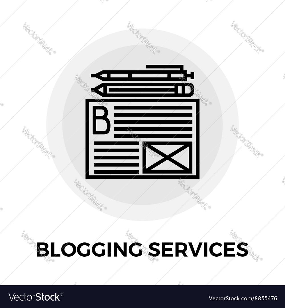 Blogging Services Icon vector image