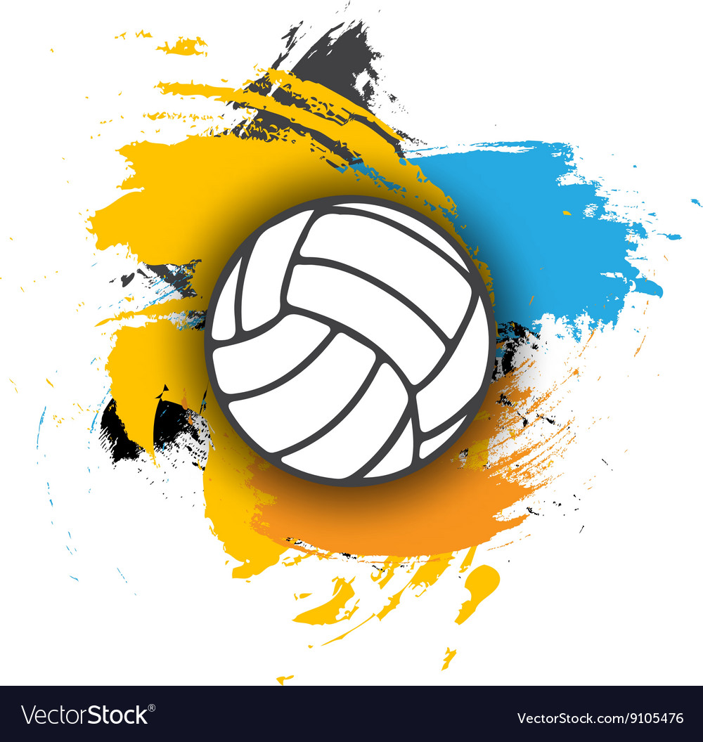 Volleyball logo on the background of multi vector image