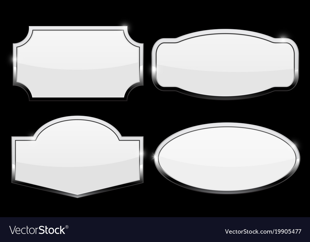 & Decorative metal plate on black background Vector Image