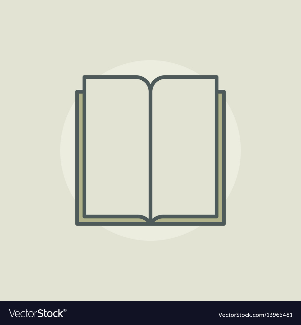 Book colorful sign vector image