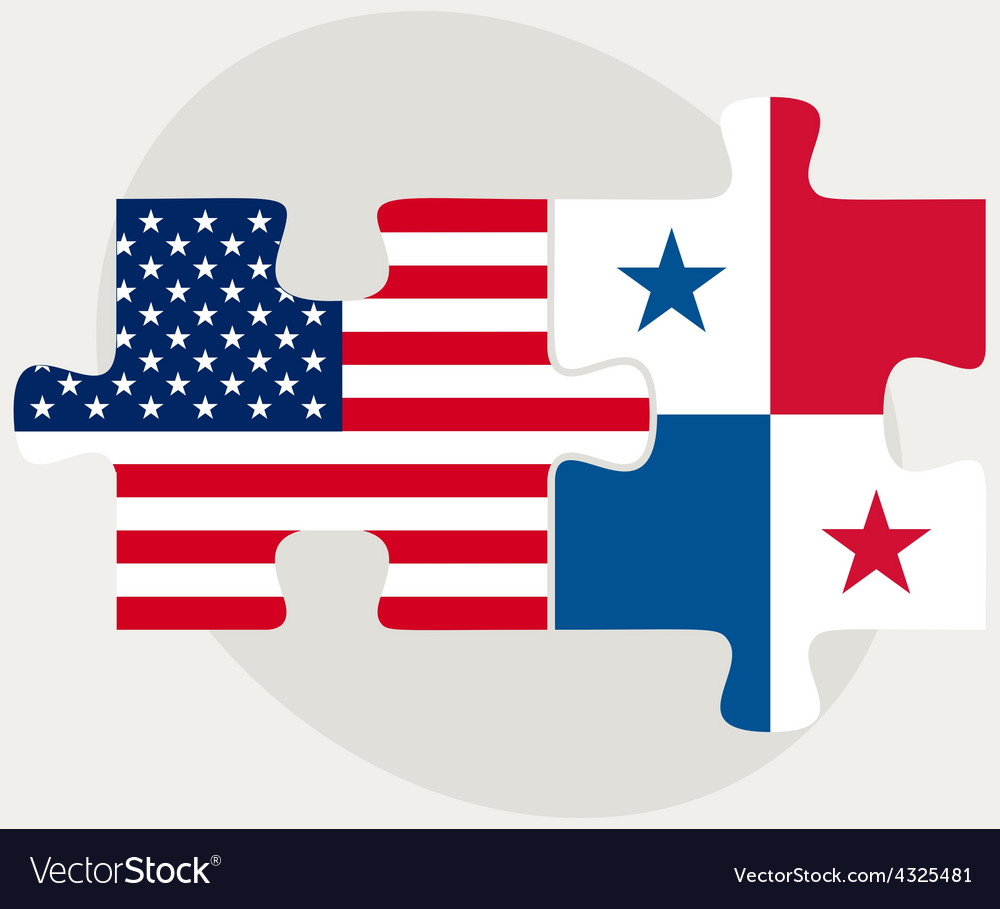 USA And Panama Flags In Puzzle Royalty Free Vector Image - Panama flags