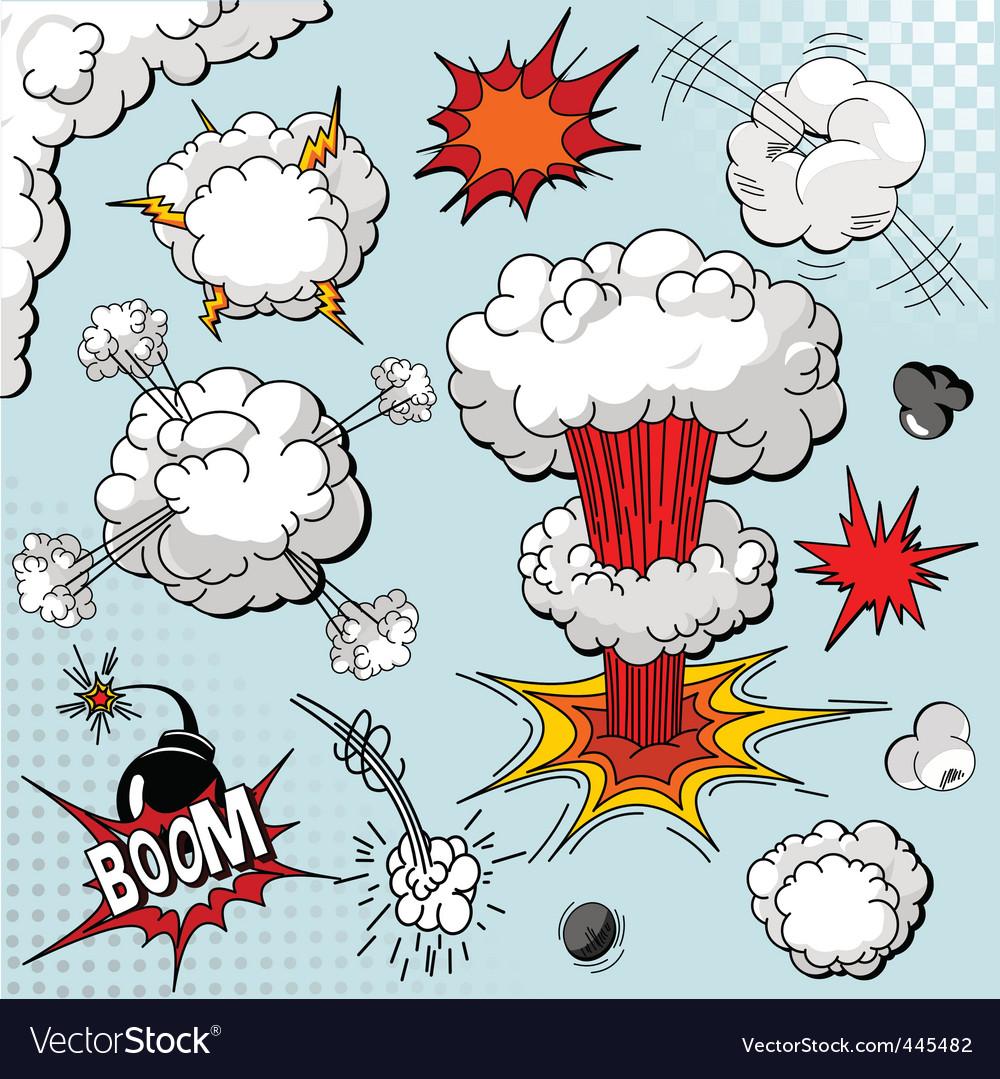 Comic book elements vector image