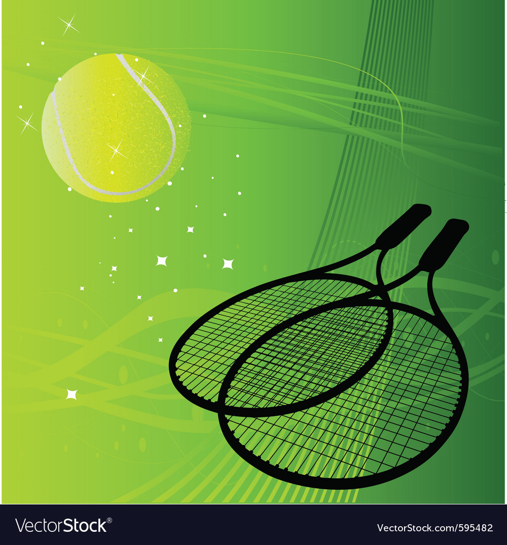 Tennis Background Royalty Free Vector Image