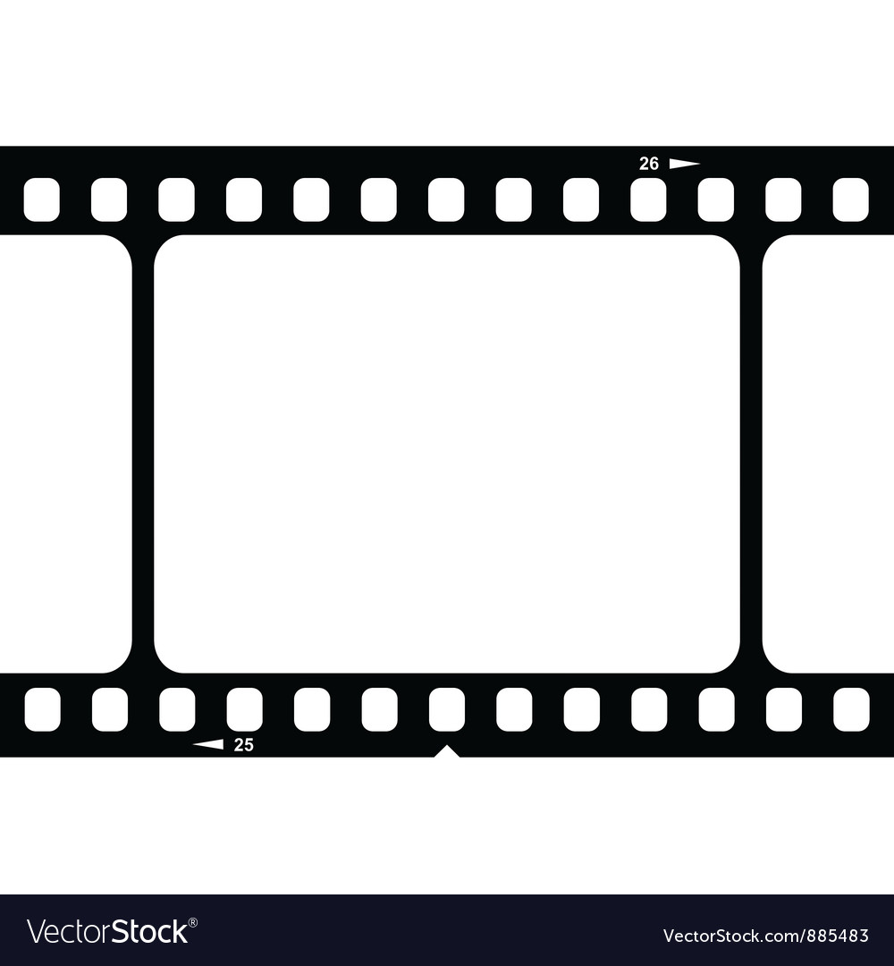 Blank 35mm film strip royalty free vector image blank 35mm film strip vector image jeuxipadfo Image collections