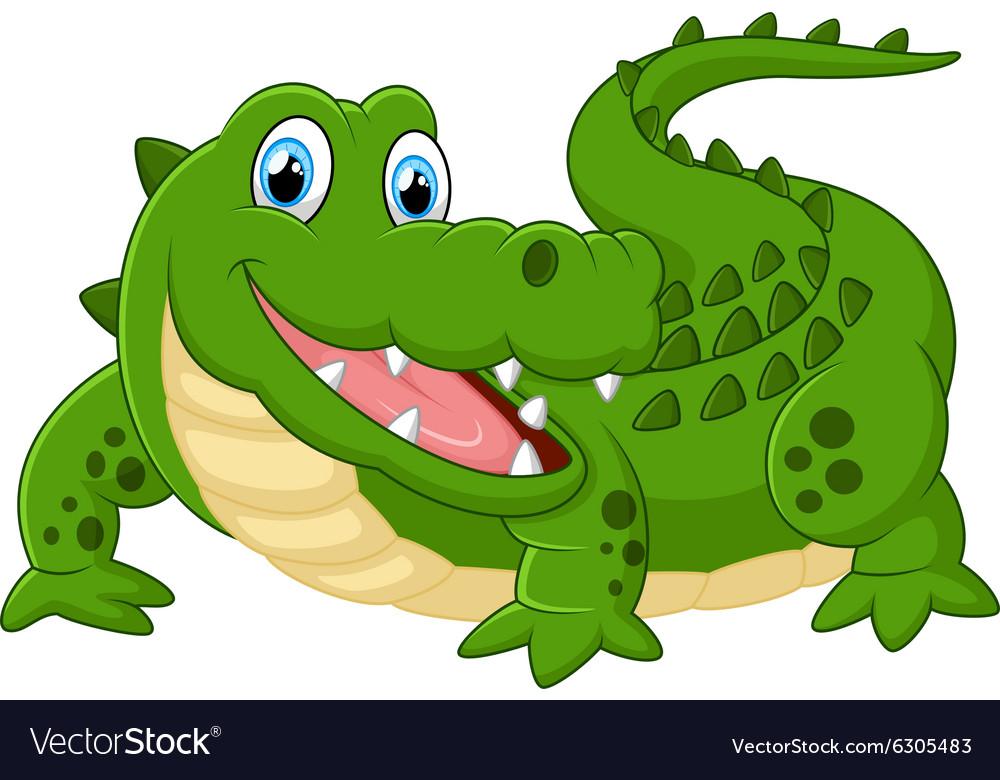 Cute crocodile vector image