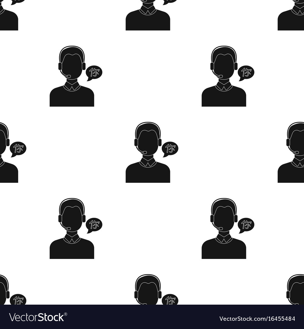 Translator icon in black style isolated on white vector image