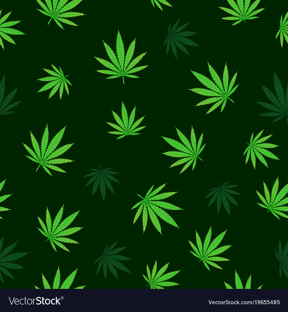 Falling cannabis seamless vector image