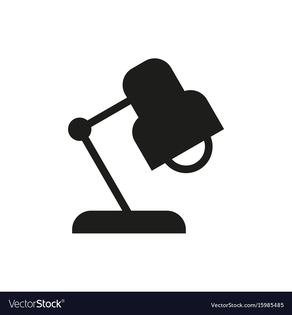 Reading-lamp icon on white background vector image