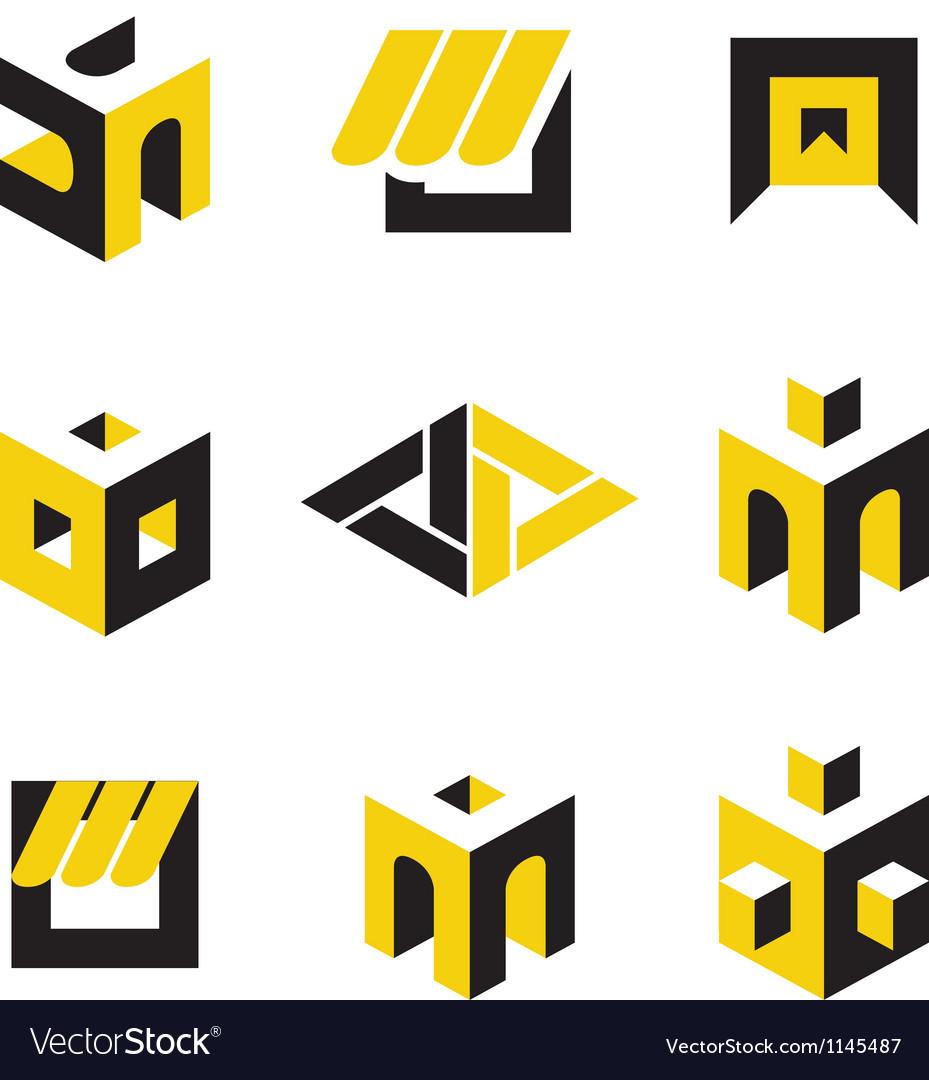 Construction logos Vector Image