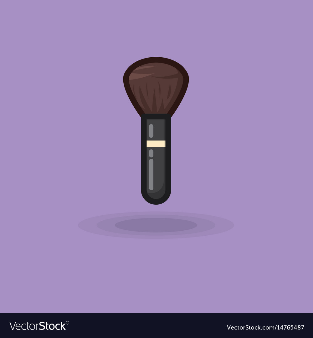 Brush icon for make up brush vector image